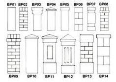 concrete fence pillars and palings - Google Search