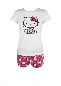 HK All Over Set Hello Kitty Clothes, Hello Kitty Items, Girl Outfits, Cute Outfits, Fashion Outfits, Cute Pjs, Watch Cartoons, Find Girls, Pj Pants