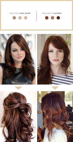 Trendy Hair Highlights Picture Description The Best Highlights for Your Hair and Skin Tone – Verily eroticwadewisdom…. Hair Color For Fair Skin, Cool Hair Color, Red Hair For Cool Skin Tones, Hazel Eyes Hair Color, Auburn Balayage, Balayage Hair, Haircolor, Hair Highlights, Caramel Highlights