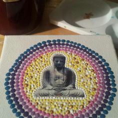 Half way through my epic Buddha project ♡ Buddha, Mandala, Trending Outfits, Unique Jewelry, Handmade Gifts, Projects, Etsy, Vintage, Kid Craft Gifts