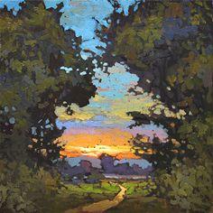 The Path Home by Jan Schmuckal Oil ~ 8 x 8