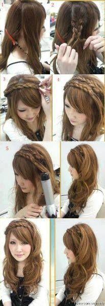 Tiara hair style
