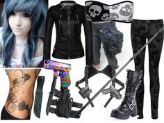 """Surviving the Walking Dead (Hespera Melanthea)"" by candradeimos ❤ liked on Polyvore"