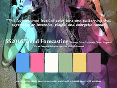 SS2016 trend forecasting for Women, Men, Intimate, Sport - This look involved levels of color tone and patterning that expressing an intensive, playful and energetic mood  www.FashionWebGraphic.com