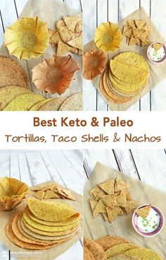 Best Keto & Paleo Tortillas, Taco Shells & Nachos!! Only 1.5 g net carbs per tortilla!