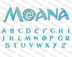 Moana Birthday Party Theme, Birthday Party Decorations, Moana Theme, Moana Party, 2nd Birthday, Microsoft Word, Moana Font, Princess Font, Disney Princess