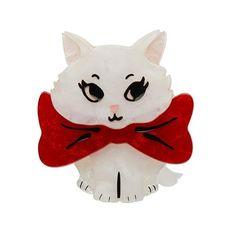 Wrapped Up in Love Kitten Brooch by Erstwilder Heart Bubbles, White Kittens, Cat Hair, Etsy Crafts, Flower Brooch, Keepsake Boxes, Cool Cats, Hello Kitty, Wraps