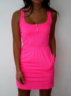 Hot pink tshirt dress