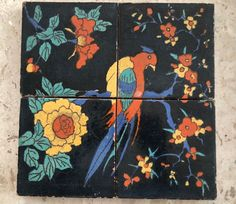Antique Vintage Catalina Tile Pottery Tiles Parrot Bird | eBay Tile Top Tables, Vintage California, Parrot Bird, Tiles, Spanish, Pottery, Antiques, Ebay, Art