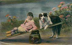 Rebop's PawPrints,Vintage Postcards, dogs, cats, animals ...