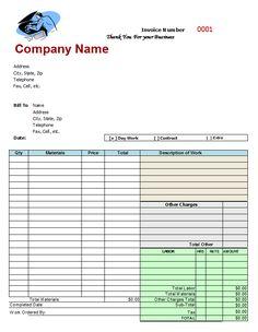 4-Part Auto Repair Order/Invoice   business   Pinterest