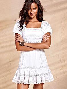 Cap-sleeve Babydoll Dress -- love this for sweet honeymoon photos!
