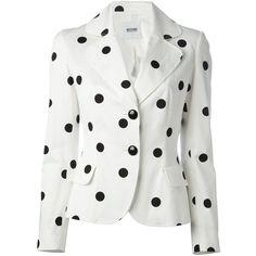 MOSCHINO CHEAP & CHIC polka dot blazer found on Polyvore