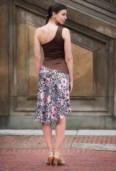 Charmuese satin, lycra, off shoulder front slit dress - Agape Front Slit Dress, Tango Dress, One Shoulder, Shoulder Dress, Dress Skirt, Beautiful Dresses, Satin, Silk, Tango Shoes