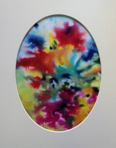 Silk Flowers Abstract Painting  £22.50