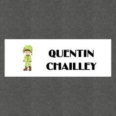 """16 Etiquettes scolaires personnalisées Thème """"Militaire Garçon"""" : Stickers par creerpourvous"""