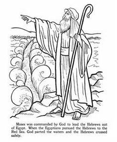 coloring page about moses while you tell the story of moses