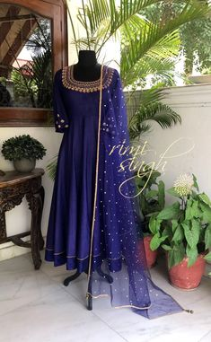 Colors & Crafts Boutique™ offers unique apparel and jewelry to women who value versatility, style and comfort. We specialize in customiz… Indian Gowns, Indian Attire, Indian Wear, Indian Outfits, Indian Clothes, Mehndi, Henna, Shadi Dresses, Pakistani Dresses