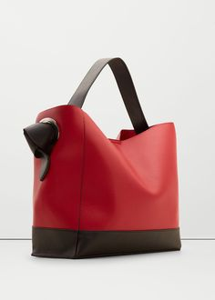 Contrasting hobo bag - Bags for Woman Tote Handbags, Purses And Handbags, Tote Bags, Leather Purses, Leather Handbags, Hobo Bag, Bag Sale, Fashion Bags, Pool Fashion