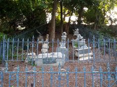 Pet cemetery near the exit of the Haunted Mansion, Orlando.  Photo by John Eagen