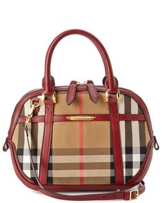 "Burberry  ""Orchard"" Small Sartorial House Check Bowler Bag."