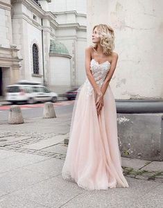 Sexy Tulle Appliques Prom Dress, Long Prom Dresses,