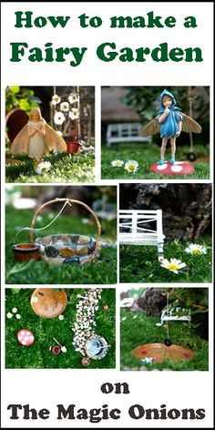 How To Make A Fairy Garden: There Is Something Really Magical About Working With Your Children To Make A Fairy Garden...This Is A Gift We Don't Often Get. Add Some Creativity, Thoughts Of Fairies And Gnomes, A Little Pixie Dust And It's An Enchanting Experience For All Of Us...Click On Picture For Tutorial On How To Create One Of Your Own...
