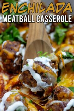 Enchilada Meatball Casserole - this low carb casserole totally satisfies my craving for Mexican food! Enchilada Meatball Casserole - this low carb casserole totally satisfies my craving for Mexican food! Slow Cooker Recipes, Low Carb Recipes, Crockpot Recipes, Cooking Recipes, Diabetic Recipes, Homemade Enchilada Sauce, Homemade Enchiladas, Enchilada Recipes, Low Carb Enchiladas