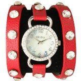 Red Wrap Around Watch with Sparking Crystal Rhinestones Face Bling $11.95