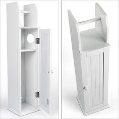 Toilettenpapierhalter Holz Weiß 78cm
