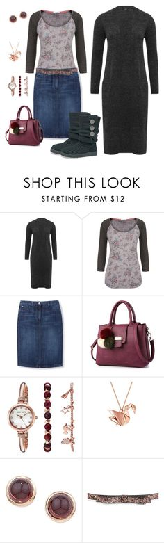 """""""Untitled #1315"""" by shemomjojo ❤ liked on Polyvore featuring M&Co, maurices, Boden, UGG Australia, Anne Klein, Origami Jewellery, London Road and Kate Spade"""