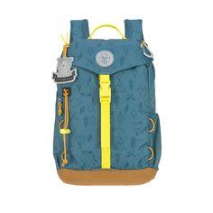 Lässig Kindergartenrucksack Outdoor Adventure blue, € Green Label, Outdoor Backpacks, Pet Bottle, Stylish Kids, Mini Backpack, Plein Air, Lunch Box, Hiking, Adventure