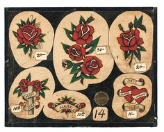 Vintage Tattoo Flash: 100 Years of Traditional Tattoos from the Collection of Jonathan Shaw | powerHouse Books