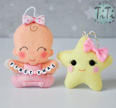 Ornamento di Natale prima di personalizzati bambino bambino