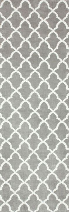 $5 Off when you share! Serenity Microfiber Memory Foam Trellis Grey Rug | Contemporary Rugs #RugsUSA