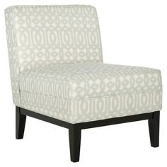 Birch wood accent chair with trellis-print upholstery.   Product: ChairConstruction Material: Birch wood and co...