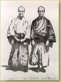Moriyama Einosuke, the Chief Interpreter in Shimoda is seen on the left in this photograph taken about 1870. Initially, Moriyama spoke Dutch to Harris Townsend Secretary Henry Heusken, who in turn translated Moriyamas remarks into English for Harris. The man on the right was also an interpreter.