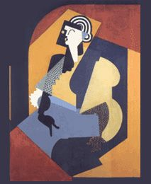 Albert Gleizes, Femme au gant noir (Woman with Black Glove), oil on canvas, 126 x 100 cm, National Gallery of Australia Modern Art, Painting, Online Art, Art, Cubist Art, European Paintings, Art Movement, Artist Palette, Avant Garde Art