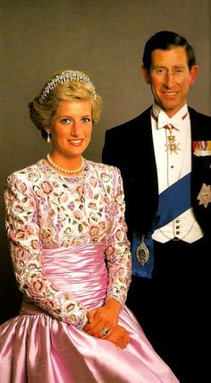 Their Royal Highnesses, The Prince and Princess of Wales. Official Portrait.