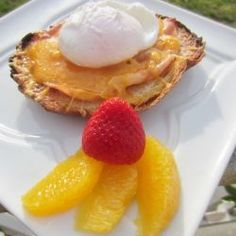 Cheese on toast with poached egg