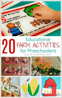 Between games, counting, and crafting these are the best educational preschool farm activities that will fit right into any farm theme. Farm Activities, Hands On Activities, Infant Activities, Animal Activities, Preschool Books, Preschool Farm, Preschool Crafts, Preschool Themes, The Farm Book