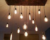 10 Edison Bulb Industrial Chandelier Pendant by HangoutLighting
