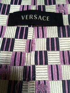 NEW Affordable Versace Geometric 100% Silk Multi Color Classic  Mens Neck Tie  #Versace #NeckTie