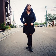 Fall is that magical time for bundling up, getting cozy, taking the jeans and boots out, and enjoying the change of season! Thank you Whitney for having fun with our @prairieunderground zip raincoat. #fallfashion #fashion #style #women #tucson #madeinusa #jacket
