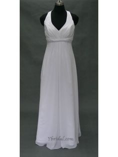 A-line V-Halter Floor-length Chiffon Prom Dress SAL0346