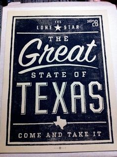 Great State of Texas designed by Kollective Fusion and printed at Industry Print Shop Liu Davis