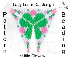 Triangle Peyote pattern Little Clover scheme for beading