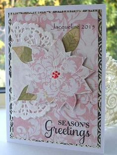 Jacqueline's Craft Nest: Peace Poinsettias
