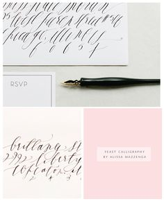 I figured a little lettering eye candy would be in order for this week, no? This is the hand of Alissa Mazzenga of Feast Calligraphy, it's so lovely, feminine and unique. Artists like Alissa raise...