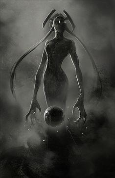 Stunning Fantasy Illustrations by Sandra Duchiewicz - Cruzine Fantasy Creatures, Mythical Creatures, Dark Creatures, Fantasy World, Dark Fantasy, Mystique, Creature Concept, Fantasy Illustration, Art Graphique